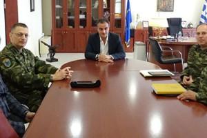 Τον Περιφερειάρχη Δυτικής Μακεδονίας Θεόδωρο Καρυπίδη επισκέφθηκε ο Διοικητής του Γ' Σώματος Στρατού Αντιστράτηγος Αλκιβιάδης Στεφανής