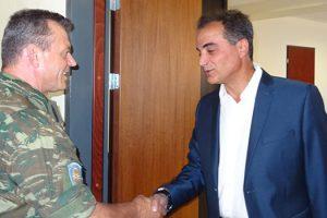 Τον Περιφερειάρχη Δυτικής Μακεδονίας Θεόδωρο Καρυπίδη επισκέφθηκε ο Διοικητής της 1ης Στρατιάς Αντιστράτηγος Ηλίας Λεοντάρης
