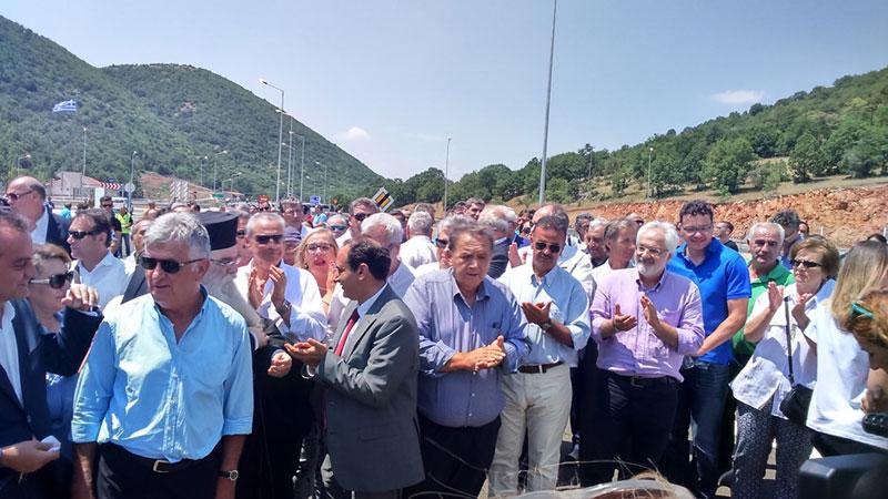 Σε κυκλοφορία το τμήμα Κορομηλιά – Κρυσταλλοπηγή. Την κορδέλα «έκοψε» ο Υπουργός Υποδομών & Μεταφορών Χρήστος Σπίρτζης