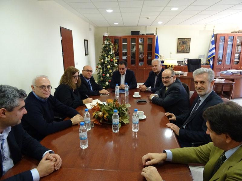Συνάντηση Περιφερειάρχη με ΙΜΕ ΓΣΕΒΕΕ - Στο επίκεντρο η στήριξη των μικρομεσαίων επιχειρήσεων της Δυτικής Μακεδονίας