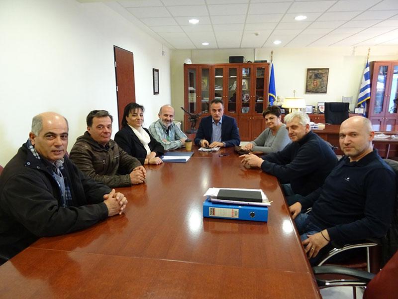 Οι εκπρόσωποι του Αγροτικού Συνεταιρισμού Αμυνταίου επισκέφθηκαν τον Περιφερειάρχη Θ. Καρυπίδη
