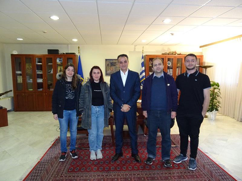 Η ομάδα ρομποτικής του Τμήματος Μηχανικών Πληροφορικής και Τηλεπικοινωνιών του Πανεπιστημίου Δυτικής Μακεδονίας επισκέφθηκε τον Περιφερειάρχη 3