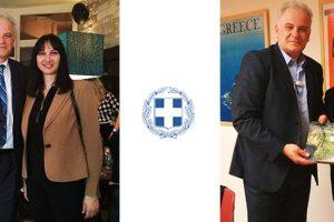 Με την Υπουργό Τουρισμού Έλενα Κουντουρά και τον Γ.Γ. του ΕΟΤ Κώστα Τσέγα συναντήθηκε ο Αντιπεριφερειάρχης Παναγιώτης Κώττας
