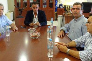 Επίσκεψη του Προεδρείου του Περιφερειακού ΙΝΕ ΓΣΕΕ στον Περιφερειάρχη Θ. Καρυπίδη