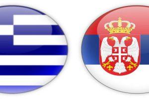 Σημαίες Ελλάδας - Σερβίας
