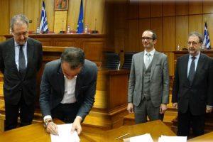 Η Περιφέρεια Δυτικής Μακεδονίας καταπολεμά το παρεμπόριο – Υπογράφηκε το σύμφωνο για την επιχειρησιακή συνεργασία μεταξύ των ελεγκτικών υπηρεσιών της Περιφέρειας με το ΣΥΚΕΑΠ