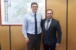 Σε τεχνική συνάντηση εργασίας παραβρέθηκε ο Νικόλαος Λυσσαρίδης με τον Διευθύνοντα Σύμβουλο της ΔΕΠΑ Α.Ε. κο Κωνσταντίνο Ξιφαρά