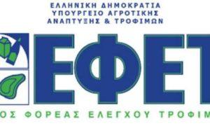 Ενιαίος Φορέας Ελέγχου Τροφίμων (ΕΦΕΤ) λογότυπο