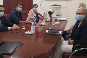 Συνάντηση του Περιφερειάρχη Δυτικής Μακεδονίας Γιώργου Κασαπίδη με την Πρέσβη της Αυστρίας στην Αθήνα Hermine Poppeler 2