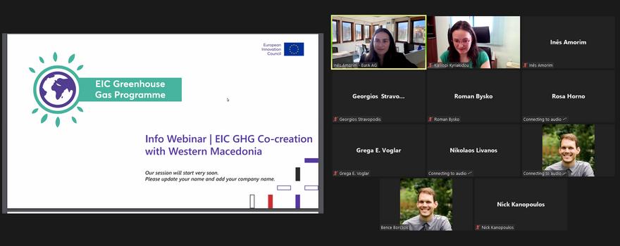 Προσέλκυση καινοτόμων επενδύσεων στην Δυτική Μακεδονία – Πρόγραμμα EIC GHG Co-Creation with Western Macedonia) 1