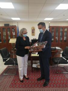 Συνάντηση του Περιφερειάρχη Δυτικής Μακεδονίας Γιώργου Κασαπίδη με την Πρέσβη της Αυστρίας στην Αθήνα Hermine Poppeler 3