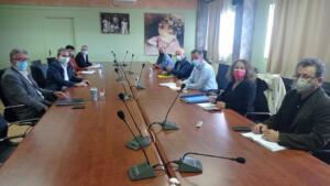 Συνάντηση του Περιφερειάρχη Γιώργου Κασαπίδη με τον Πρύτανη του Πανεπιστημίου Δυτικής Μακεδονίας Θεόδωρο Θεοδουλίδη, για την πρόοδο των έργων του Πανεπιστημίου στη Φλώρινα