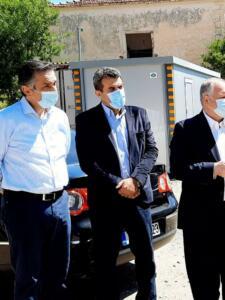 Το υπό κατασκευή Αστυνομικό Μέγαρο Καστοριάς επισκέφθηκε ο Γ.Γ. του Υπουργείου Προστασίας του Πολίτη Κωνσταντίνος Τσουβάλας, συνοδευόμενος από τον Περιφερειάρχη Δυτικής Μακεδονίας Γιώργο Κασαπίδη 2